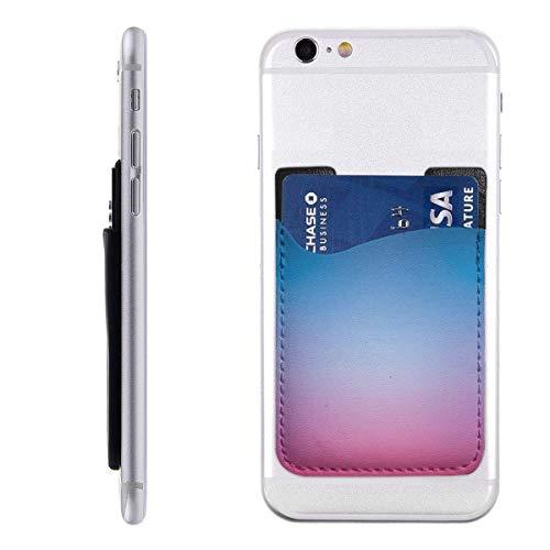 Inner-shop Mobiele kaart Portemonnee Portemonnee, Pocket ID Credit Card SleeveBlue Cool Abstract Mesh Kleur Verloop Paars Blurred