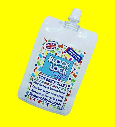 Block Lock - Juego de pegamento para juguetes (para LEGO®, Mega Bloks, Kinex y otros juguetes, bloques de construcción y bloques de 30 ml)