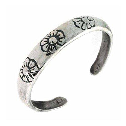 Luxuriöser Zehenring mit Blumen| Sterling Silber | Schmuck > Ringe | Royal Design