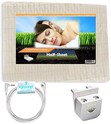 Ground Smart Earthing Half-Sheet–Universal Matte Bett-Erdung, für persönliche Erdung in der Nacht Einzelbett Ground Smart Earthing Halbplane