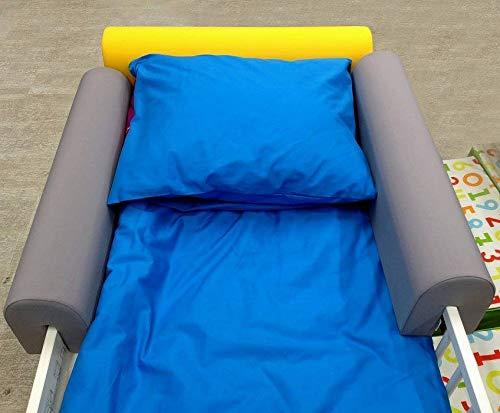 Bettumrandung zum Schutz Ihres Kleinkindes - Sicher und bequem für Ihr Kind - Schaumstoffschutz, grau, 14x20x73