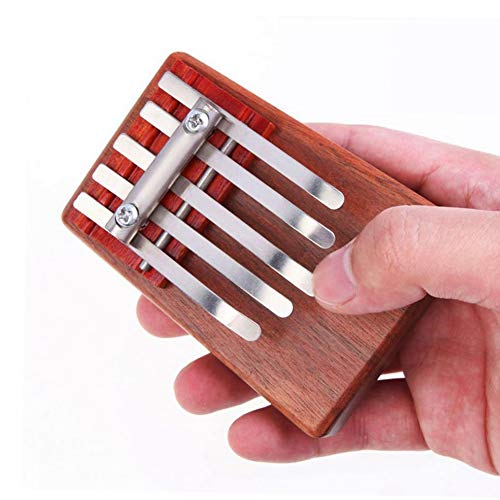 RONSHIN Hot for 5-Key Kalimba Rosewood Mbira Children Mini Guitar Thumb Piano Traditional Musical Instrument Perfect Gift for Kids