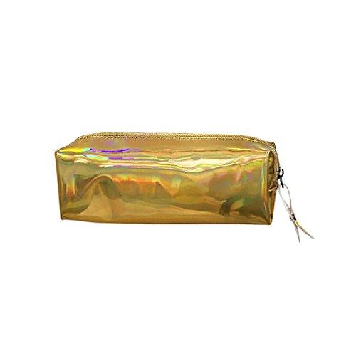 ITCHIC Borsa in pelle neutra con pochette per cosmetici in pelle neutra Borsa a matita semplice Borsa casual con cerniera Sacchetto del telefono del sacchetto di trucco della borsa cosmetica