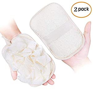 Loofah pads and pouf