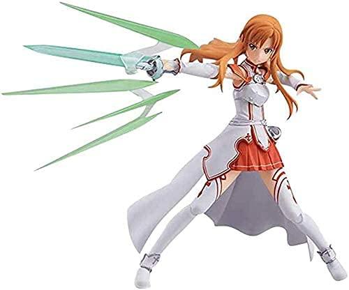 Figura de Sword Art Online Yuuki Asuna de Acción Figura de Figma YuukiAsuna Figura decorativa, decoración coleccionable, juguete de animación, modelo de personaje