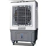 ZZFF Enfriador Evaporativo Portátil,3 Velocidad Enfriador De Pantano con Cuatro Ruedas,Extraíble Ventilador De Aire Acondicionado Humidificador Soplador para El Hogar Blanco 100x60x40cm(39x24x16inch)