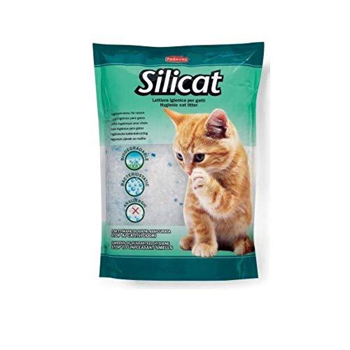 Padovan Lettiera igienica ai cristalli di silicio per gatti - Lunga durata - Batteriostatica e Anallergica - Confezione da 5 LT