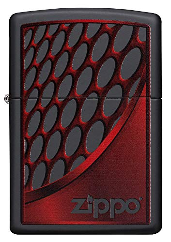 Zippo Red and Chrome Mechero de Gasolina, latón, Acero, 1 x 6 x 6 cm