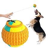 Pelota Deportiva Para Perros Lanzador De Bolas Juguete Interactivo Para Perros Juguetes Para Masticar Para Cachorros Perro Pequeño Grande Limpieza De Dientes Masticar Jugar IQ Treat