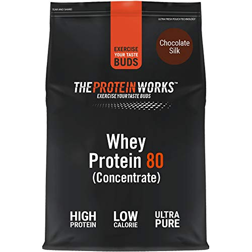 THE PROTEIN WORKS Whey Protein 80 (Concentrate) Powder | 82 Percent Protein | Low Sugar, High Protein Shake | Chocolate Silk | 2 kg