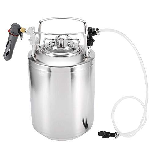 Bierfass System Dispenser Kit, Edelstahl Druck tragbare Mini Bierbrau Keg Craft Weinherstellung Kit für Bier Wasser Soda Kaffee Entwurf Homebrew Lagerung Dispensing(12L)