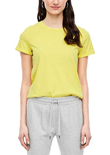 Q/S designed by - s.Oliver Damen 45.899.32.5230 T-Shirt, Yellow, X-Small (Herstellergröße: XS)