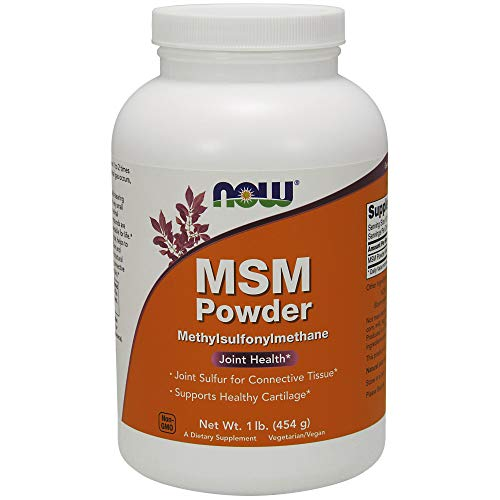 NOW Supplements, MSM (Methylsulfonylmethane) Powder, Supports Healthy Cartilage*, Joint Health*, 1-Pound