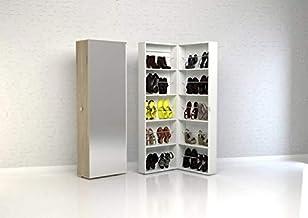 Shoe Cabinet With Mirror Door by Tvilum, Brown, 71009 akak