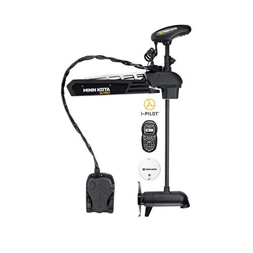 Minn Kota 1368821 Ultrex Freshwater Cable & Electric-Steer Bow-Mount Motor with Universal Sonar 2, Digital Maximizer & i-Pilot GPS, 112 lbs Thrust, 52' Shaft