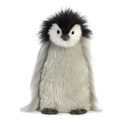 Aurora, Luxe Boutique 03510 Milly der Baby Kaiser Pinguin Plüschtier grau 28 cm weiß schwarz Geschenkidee