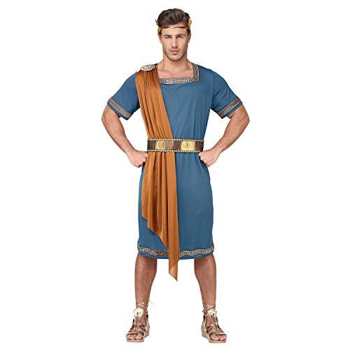 WIDMANN Srl traje del emperador Romano de hombre Adultos, Azul, wdm07934