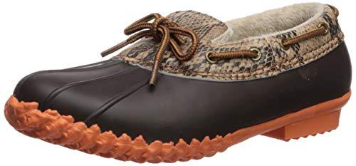 JBU by Jambu Women's Gwen Rain Boot, Brown Python/Coral, 7.5 M US