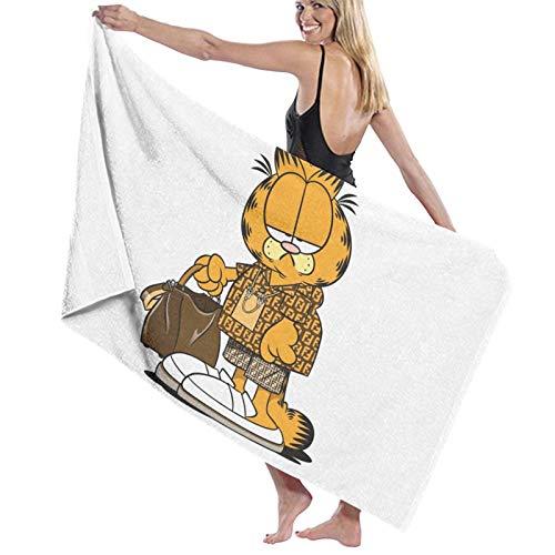 Garfield Toalla de playa de secado rápido, toalla de baño de microfibra, súper absorbente, ligera toalla para playa, piscina, natación, senderismo y uso en el hogar, tamaño grande