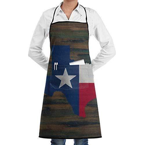 Delantal rústico de madera roja, blanco y azul, para cocinar, delantal de barbacoa, delantal ajustable con bolsillos