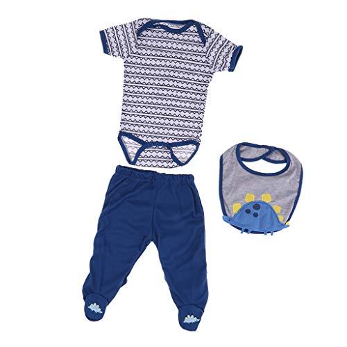 FLAMEER Niedliche Neugeborenes Baby Puppe Kleidung mit Zubehör für 50-55cm Baby Doll - # 9
