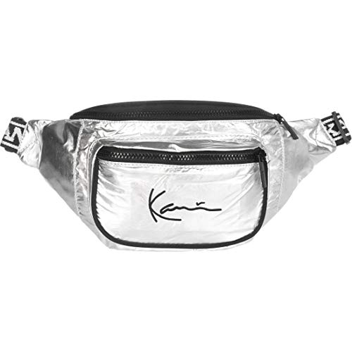 Karl Kani Herren Taschen Signature Tape silberfarben Einheitsgröße