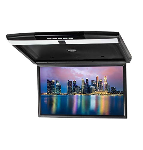 Unbekannt 17,3 Zoll Roof Mount Flip Down Video Monitor für Auto, High Resolution Display Overhead Monitor Support HDMI FM übertragen SD/USB-Input