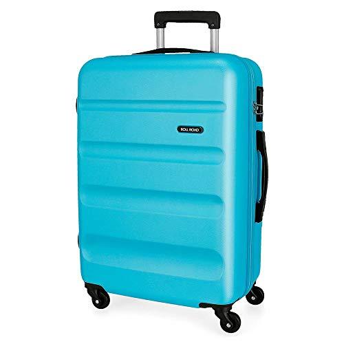 Roll Road Flex Maleta Mediana Azul 46x65x23 cms Rígida ABS Cierre combinación...