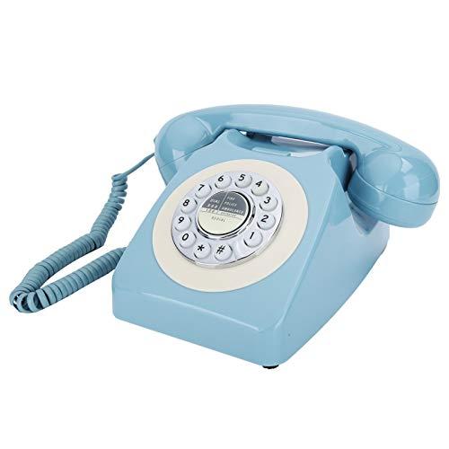 T opiky Telefon stacjonarny, telefon FSK/DTMF z tarczą do wyboru, stały telefon, blokada muzyki/błysk/odzyskiwanie zwrotów, do Home-Office Hotel