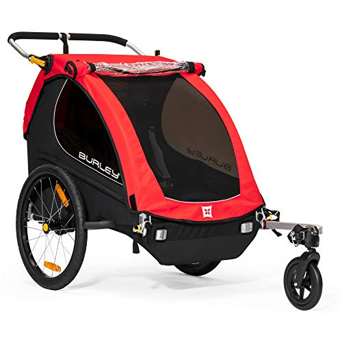 Burley Unisex MY16Bicicleta de 2 plazas, Unisex, MY16 2-Seater, Honeybee Red, n/a