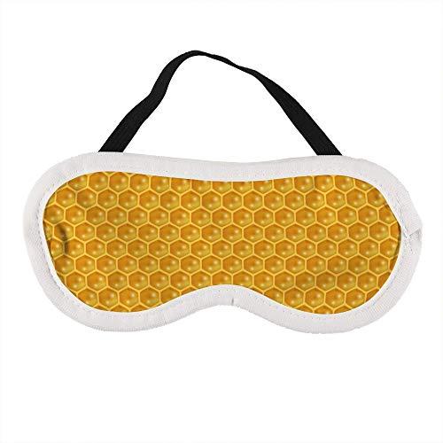 Draagbaar Oogmasker voor Mannen en Vrouwen, Vloeibare Honing Patroon Bijen Honingraat De Beste Slaap masker voor Reizen, dutje, geven U De Beste Slaap Omgeving