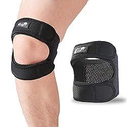 top 10 patella tendon brace Patellar tendon support belt (small / medium), adjustable neoprene knee band to relieve knee pain …