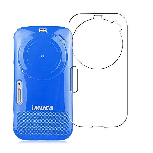 Vaxson 2 Unidades Protector de pantalla Posterior, compatible con Samsung Galaxy K Zoom C1158 c1116 [No Vidrio Templado] TPU Película Protectora Espalda Skin Cover