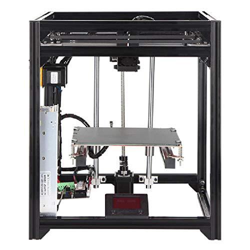 TSTYS 3D-Drucker, Präzisions-Druckvolumen 190 * 190 * 190mm High-Precision, Lebenslauf Druck, Keine Installation Anfänger freundlich erforderlich (Color : Black)