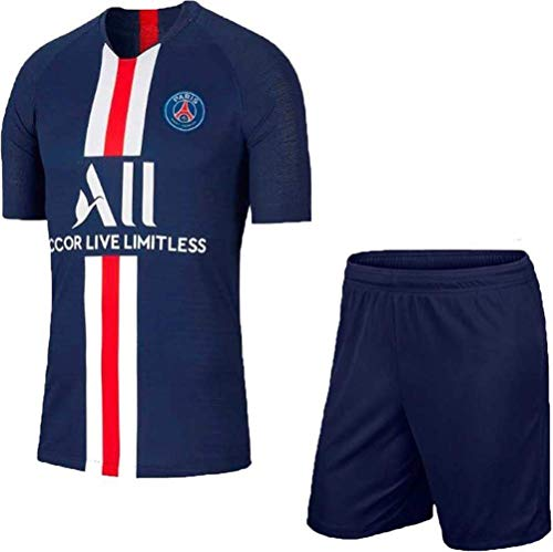 JS - Paris Football Jersey with Shorts - (Kids & Mens)(13-14 Years)