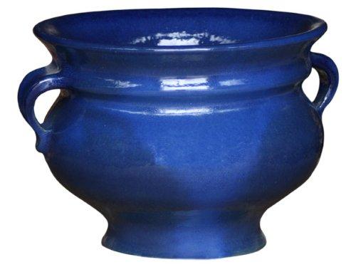 - Antares-Pot de fleurs - 45 CM x 35 CM, bleu, de frostbeständiger en céramique