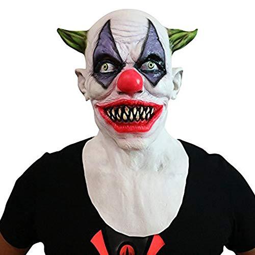 Horror-Clown grusel Maske - perfekt für Fasching, Karneval & Halloween - Kostüm für Erwachsene - Latex, Unisex Einheitsgröße