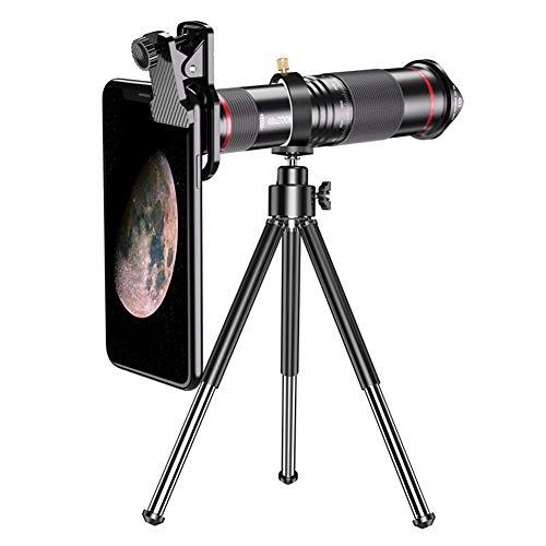 HFKL Lens Telescope for Mobile Phone Camera Teléfono Móvil De Lentes Astronómicas Monocular 48x Lente Trípode Expandible Adecuado For Teléfonos Inteligentes