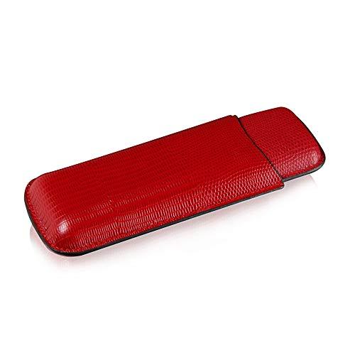 Xing zhe XZ Tragbares Reise-Leder Zigarren-Humidor Fall Rot, 175x65x25mm Rauchzubehoer (Size : 175x65x25mm)