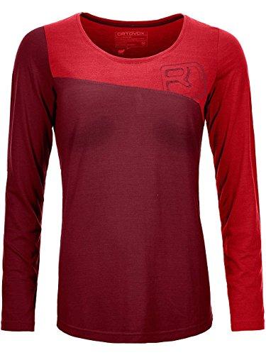 ORTOVOX Ortovox Damen Skiunterwäsche 150 Cool Logo Funktionsshirt LS, S, dark blood