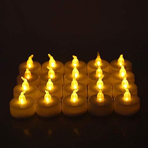6pcs LED Bougie Lumignon alimenté par Batterie Lampe Simulation Couleur Flamme Clignotant Accueil fête de Mariage Anniversaire Bougies Décoration,6 PC Colorful Light