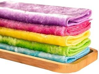 雑巾 クロス ふきん タオル 天然パルプ繊維 布巾 油汚れ 吸水 大掃除 キッチン 洗剤いらず 厚手 5枚セット