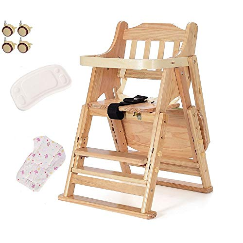 Amazing Deal ZOUJUN High Chair for Baby and Toddler with Removable Tray Adjustable Height Legs Easy ...