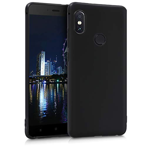 kwmobile TPU Case Compatible with Xiaomi Redmi Note 5 (Global Version) / Note 5 Pro - Case Soft Thin Slim Smooth Flexible Phone Cover - Black Matte
