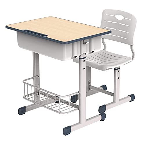 Juego de escritorio y silla para niños Escritorio para niños Juego de mesa y silla de escritorio de estudio para niños ajustable en altura Mesa de estudio para niños en la escuela y el hogar con cajón