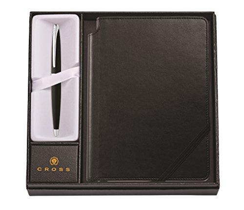 Cross ATX Geschenkset (Kugelschreiber in schwarz/chrom und Notizbuch) schwarz