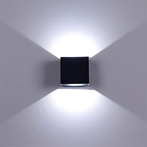 Metermall NIEUW Verstelbare 6W LED wandlamp AC85-265V COB waterdichte aluminium kubus buiten veranda wandlamp