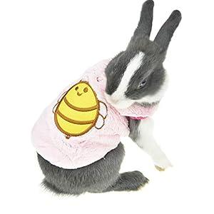 FLAdorepet Hiver Polaire Lapin Vêtements Animal de Petite Taille pour Chinchilla Furet Costume Tenues pour Tasse à thé Mini Extra Petit Chien