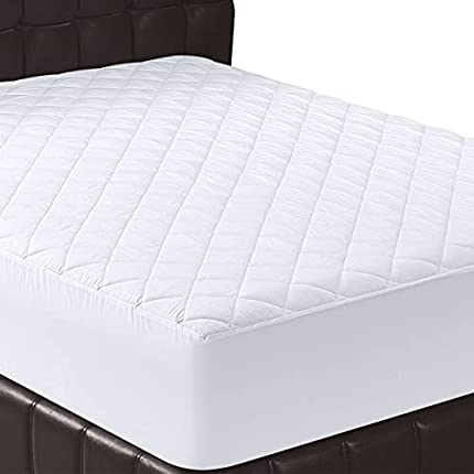 Utopia Bedding - Protector de colchón Acolchado (135x190 cm) - Microfibra - Transpirable - Funda para colchon estira hasta 38 cm de Profundidad - 135 x 190 cm, Cama 135