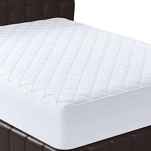 Utopia Bedding - Protector de colchón Acolchado - Microfibra - Transpirable - Funda para colchon - 135 x 190 cm, Cama 135